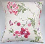 "Cushion Cover in Laura Ashley Summer Palace Cranberry 16"" No Bird"